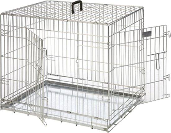 Flamingo bench 2 deurs - 120x76x82 cm zilver