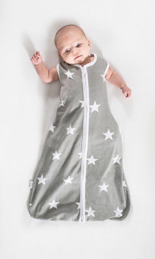 Jollein Little Star - Babyslaapzak Jersey Zomer - 70 cm - Grijs