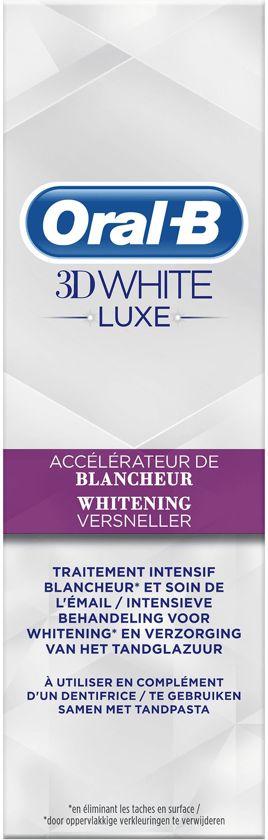 Oral-B 3D White Luxe Whitening Versneller 75ml