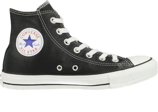 Converse All Star Hi Leather 132170C - Sneakers - Unisex - Maat 44.5 - Zwart