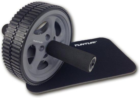 Tunturi Dubbele Trainingswiel - Buikspiertrainer - Buikspierapparaat - Buikspierwiel - Ab wheel roller - Met Kniemat