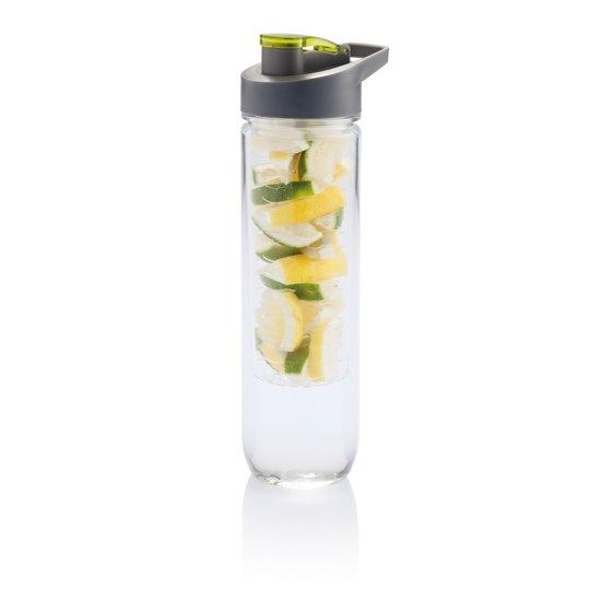 Loooqs Waterfles met infuser - Groen - 0.8 l