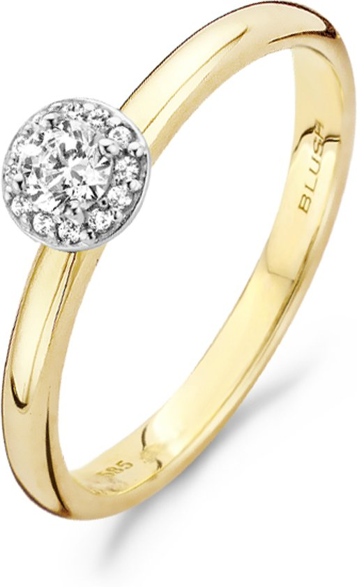 Blush Ring 1131BZI -  Geel en Wit Goud (14Krt.) met Zirconia