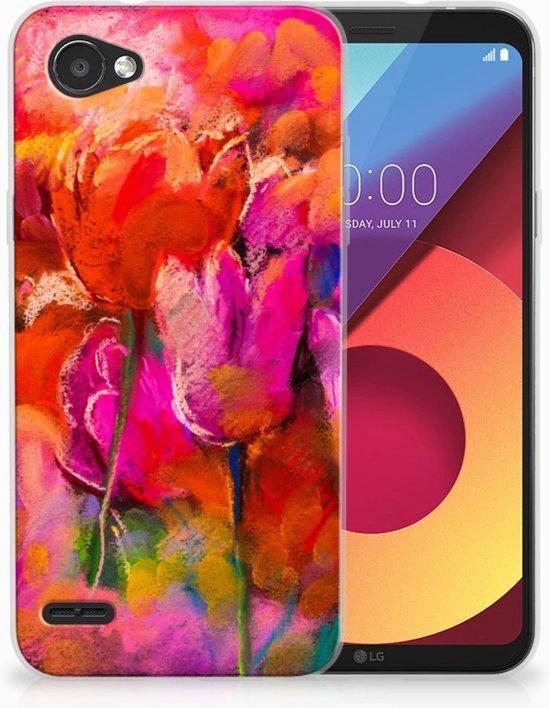 LG Q6   LG Q6 Plus TPU Hoesje Design Tulips