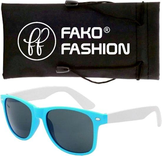 Fako Fashion® - Kinder Zonnebril - Duo - Lichtblauw/Wit