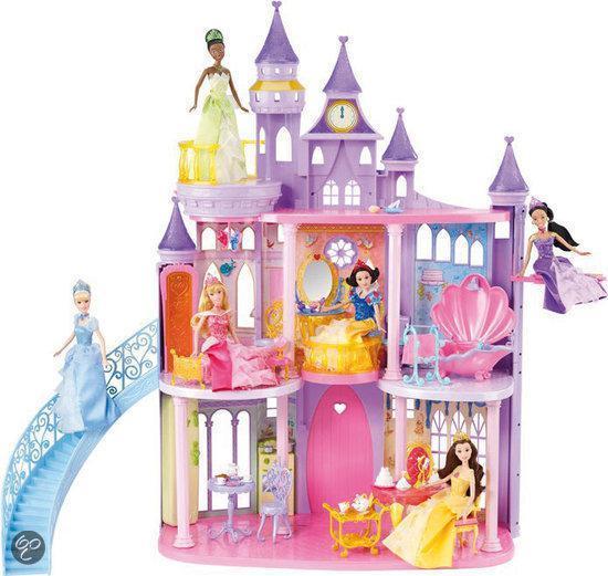 Disney princess kasteel mattel speelgoed for Poppenhuis kind 2 jaar