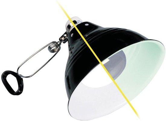 Exo Terra Glow Porseleinen klemplamp + glow reflector - M - 21cm