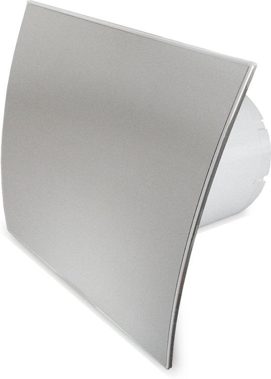 Ventilatieshop badkamer/toilet ventilator - standaard - Ø100mm - rvs gebogen