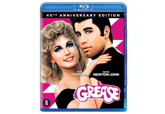 DVD cover van Grease (40th Anniversary)(Blu-ray)