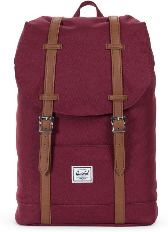 52dbe1ff549 Herschel Supply Co. Retreat Mid-Volume Rugzak - Windsor Wine / Tan  Synthetic Leather