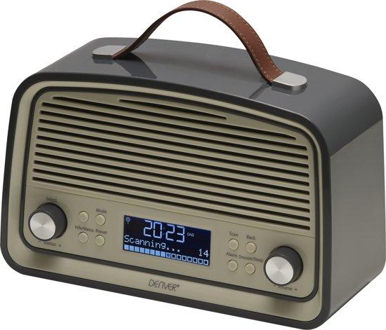 Topnotch bol.com | Denver DAB-38 DAB+/FM radio met alarmklok functie, Grijs OY34