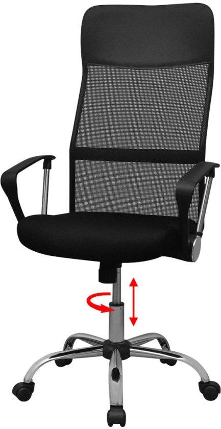 Bureaustoel 60 Cm Zithoogte.Bol Com Vidaxl Bureaustoel Half Pu 61 5x60 Cm Zwart