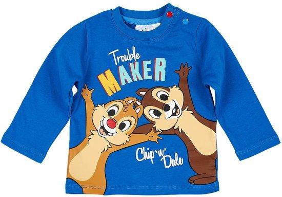Disney-Mickey-T-shirt-met-lange-mouw-blauw-maat-18-mnd