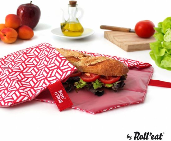 Roll'Eat Boc'n'Roll Foodwrap - Tiles Red