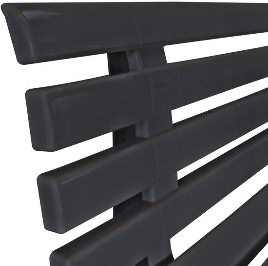 vidaXL Tuinbank 145,5 cm kunststof antraciet