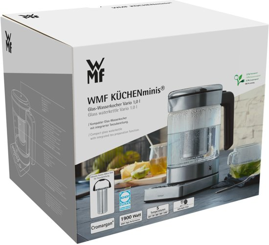 WMF Keukenminiâs Glass Kettle Vario Waterkoker - 1 L