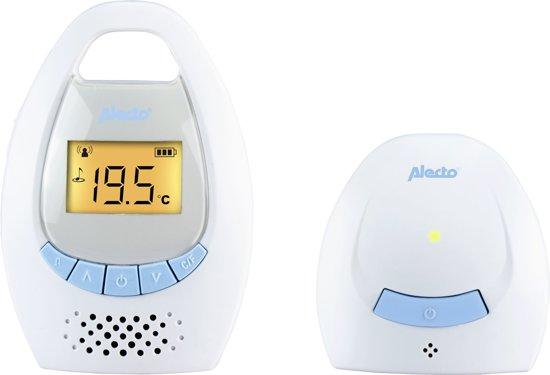 Alecto DBX-20 Digitale Babyfoon   Met digitale en 100% storingsvrije verbinding en display   Wit / Blauw