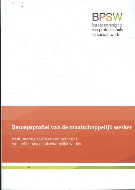 Bolcom Beroepsprofiel Van De Maatschappelijk Werker Nel Jagt