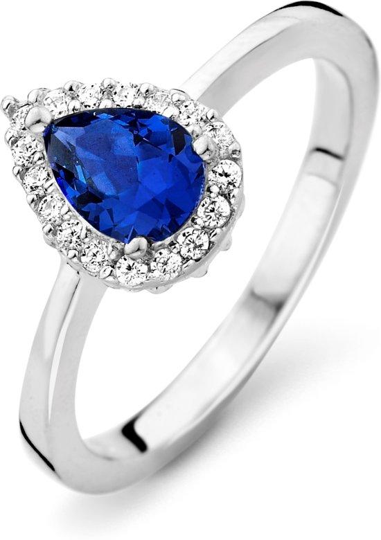 Orphelia ZR-7226/SA/58 Zilver Ring Drop Sapphire Color Zirconium