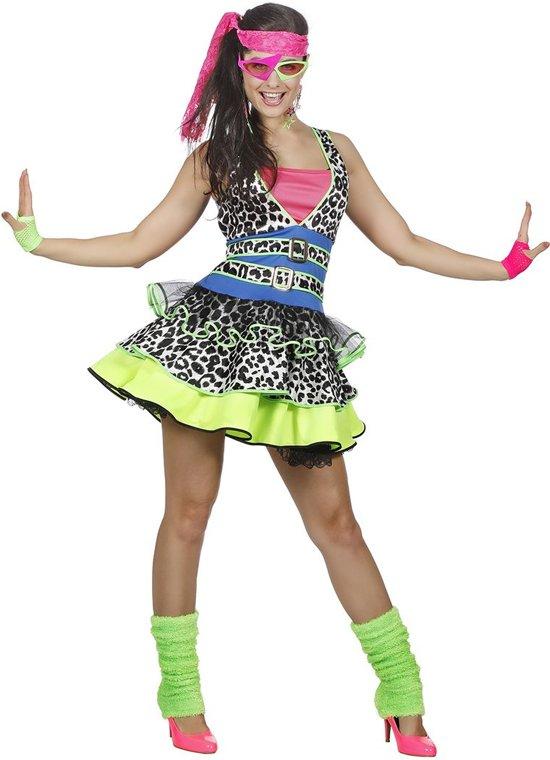 80's Girl kostuum Neon - Maatkeuze: Maat 38