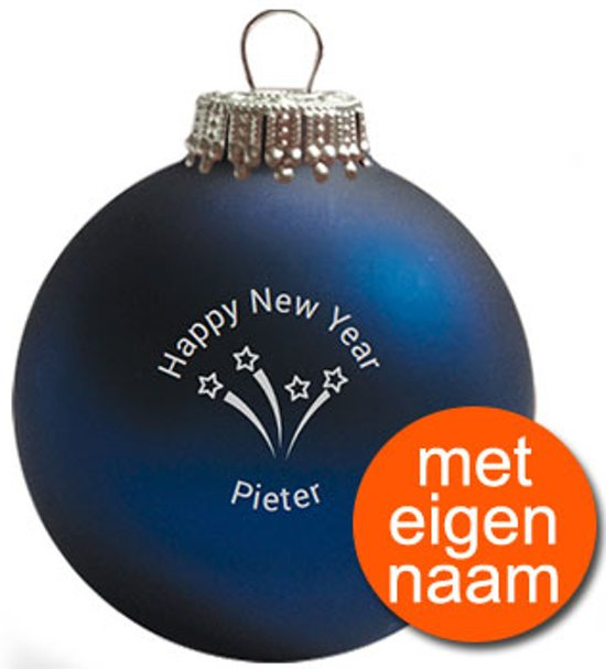 Bol Com Kerstbal Happy New Year Donkerblauw