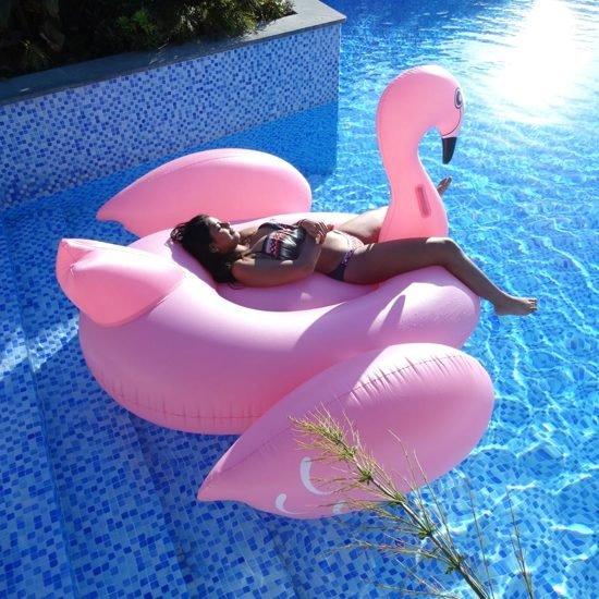 MikaMax Opblaas Flamingo 1.90m XXXL Flamingo Luchtbed