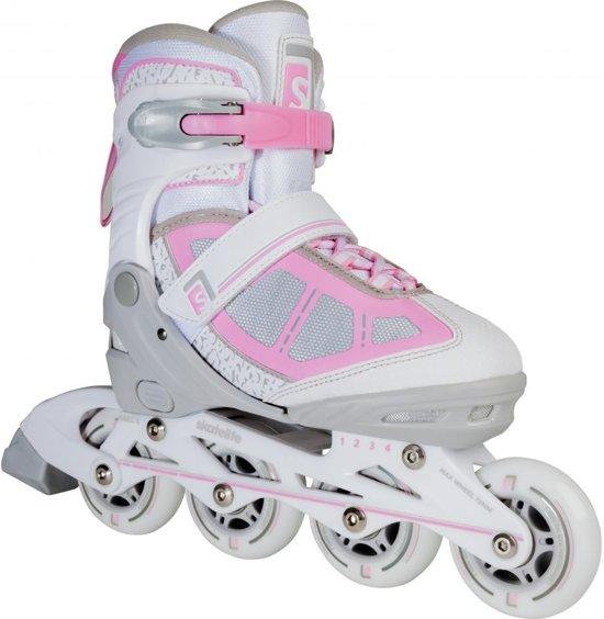 Skatelife Inlineskates Lava Meisjes Wit/grijs/roze Maat 35-38