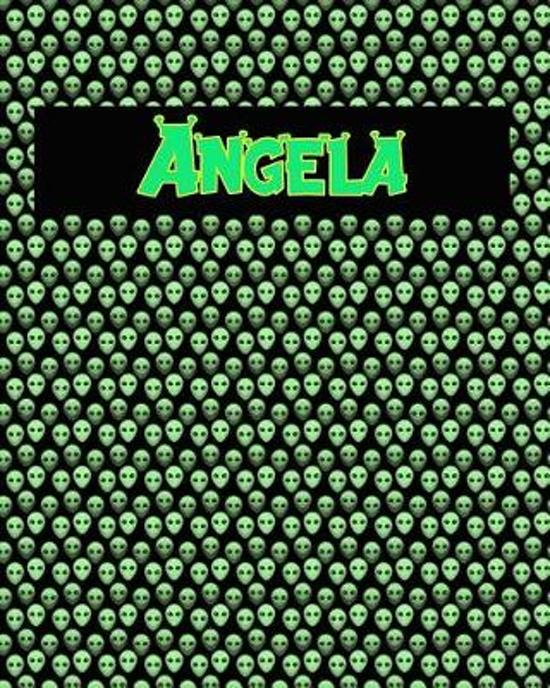 120 Page Handwriting Practice Book with Green Alien Cover Angela