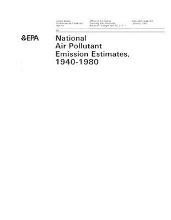 National Air Pollutant Emission Estimates