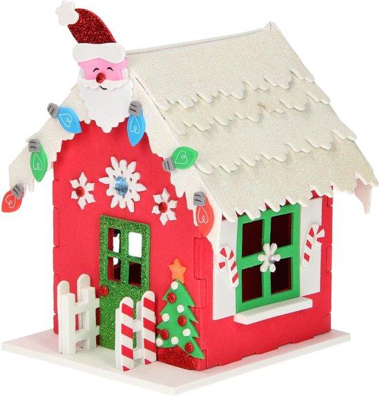Maak je eigen kersthuis - Kerstdecoratie met led verlichting - 87-delig