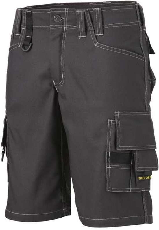 Tricorp Worker Canvas kort model - Workwear - 502006 - donkergrijs - Maat 52
