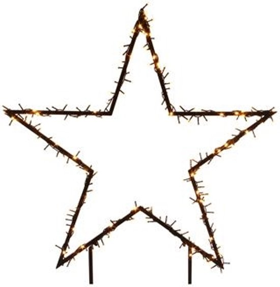 verlichte ster voor in de tuin 73 cm 150 led lampjes