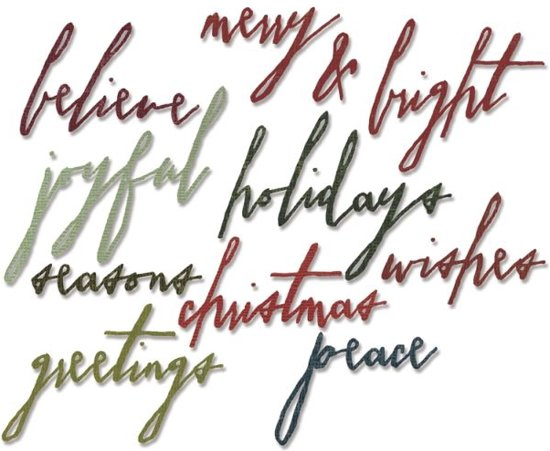 Sizzix Thinlits 11 pcs by Tim Holtz, Handwritten Holidays