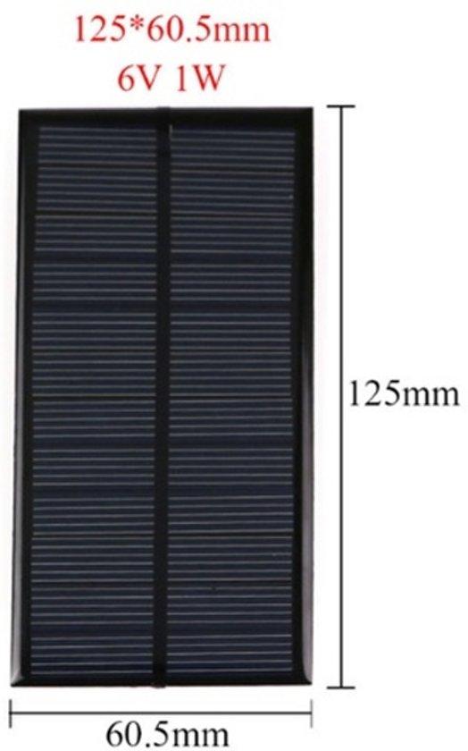 1 Stuk - 6V 1W 125x60.5mm Mini zonnepaneel