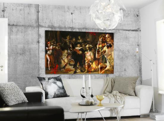Modern Interieur Schilderij : Bol de nachtwacht schilderij modern style de nacht