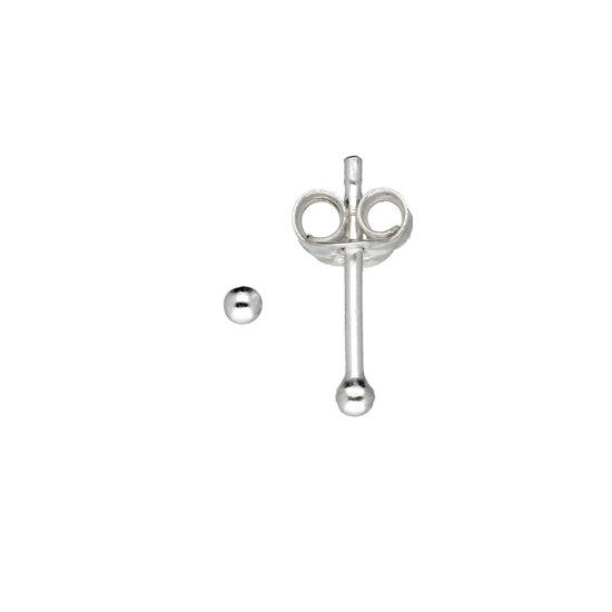 Classics&More oorknoppen - zilver - bol - Ø2 mm