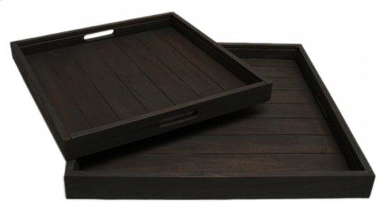Dienblad / Tray Zwart 80 x 80 cm