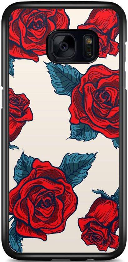 Samsung Galaxy S7 Edge hoesje - Fancy rose