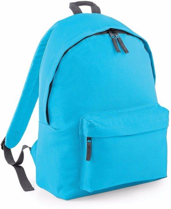 0b5ce12d2b4 bol.com | Hippe rugtas met voorvak turquoise 18 liter - rugzak