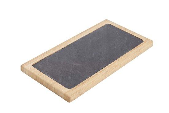 Bol cosy trendy plank bamboe leisteen rechthoekig