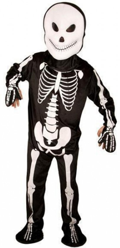 Skelet Voor Halloween.Halloween Skelet Jumpsuit Voor Volwassenen