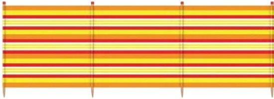 Yello Windscherm 4 Palen 90 X 224 Cm Geel/rood/oranje