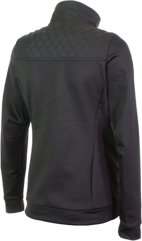 Micky Falcon Vrouwen Vest Maat S Dames Sportjas Powerstretch Fleece zwart Groen ZZArxwq