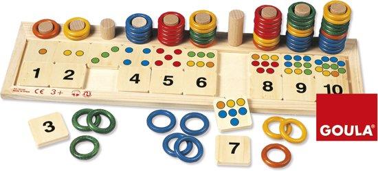 Afbeelding van het spel Gekleurde ringen leren rekenen