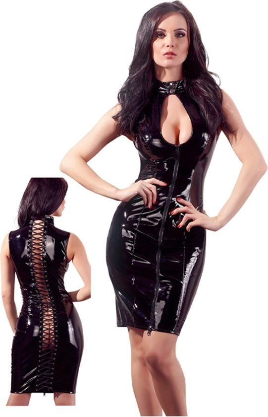 Zwart jurkje met rits achter