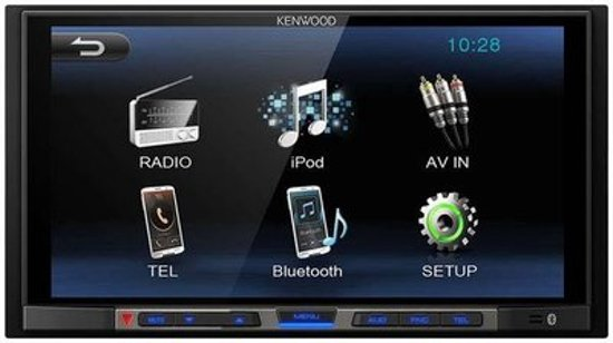 autoradio Kenwood inclusief 2-DIN NISSAN NP300, Navara 2014+ (Piano black) frame Audiovolt 11-575