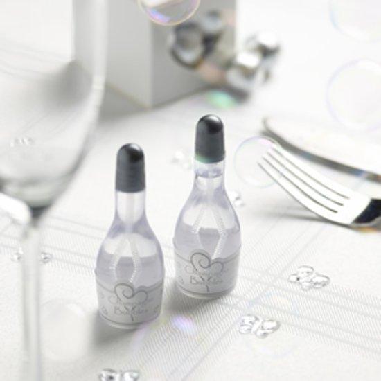 Neviti Bellenblaas champagnefles zilver - 24 stuks Valentinaa