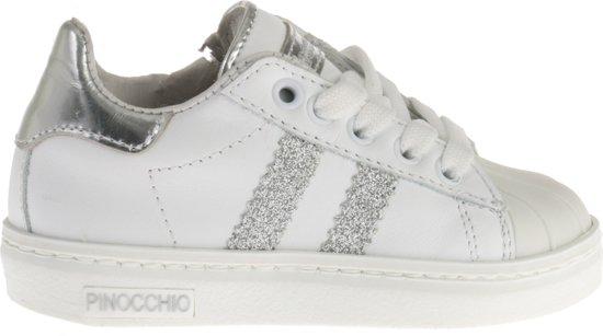 ee9041d5918 bol.com | Pinocchio Meisjes Sneakers Glitters P1834 - Wit - Maat 30