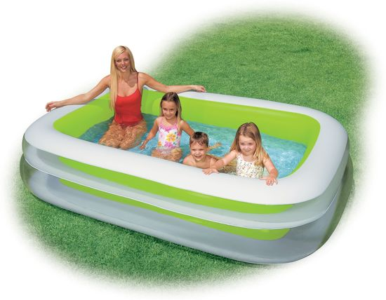 Intex Opblaasbaar Zwembad - 262 x 175 x 56 cm - GROEN/WIT