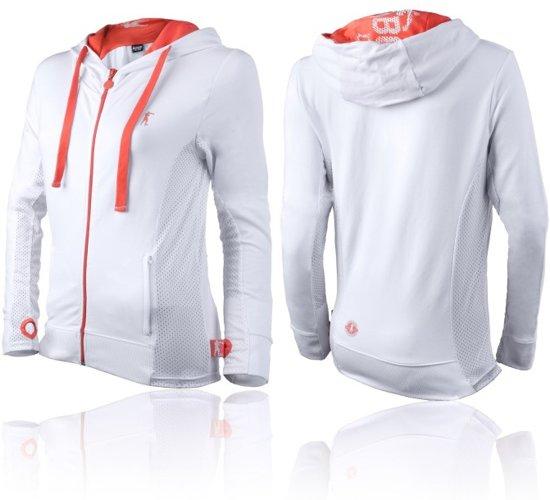 Boxeur des Rues Sweatshirt with Thumb Openings - White Orange-L